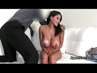 Huge tits amateur hottie bangs on casting