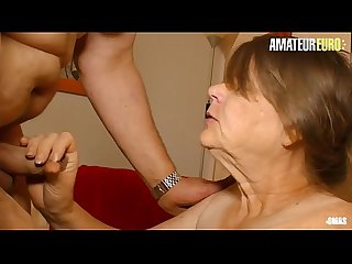 AMATEUR EURO - German Dirty Granny Birgit Goes Hardcore With Her Horny Hubby