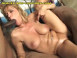 Blonde Cougar Gets Fucked