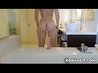 Sexy Pawg riding her mounted dildo