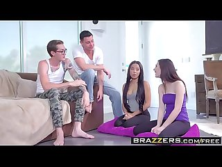 Brazzers teens like it big Jenna reid Maya bijou buddy hollywood and seth gamble double dare