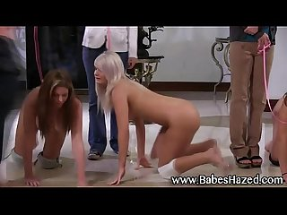 Teen babes on short leash