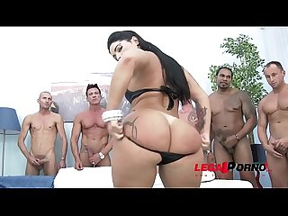 Big booty gangster bitch monica santiago gangbang with messy swallow