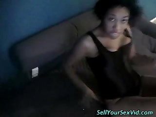 White bf fucks ebony gf
