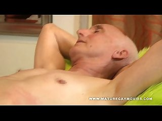 Grandpa Gets A Massage And Happy Ending By His Young Masseur