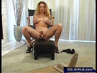 Sybian orgasm from a hot young amateur girl