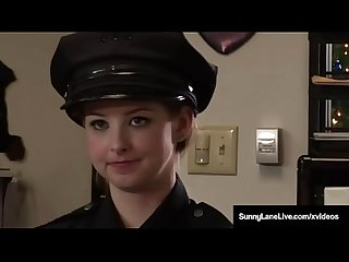 Undercover hottie sunny lane fucks criminals in crazy 3way
