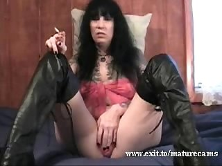 50 years kinky mom teasing at home