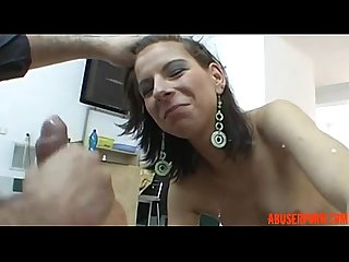 Chick does anal bj and rough sex at the first casting abuserporn com