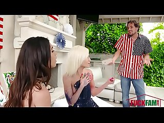 Gianna Gem , Kiara Cole In A Red, White, And Blue Blowjob