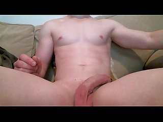 Teen boy having a Wank on the couch