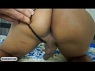 Big boobs tranny from Brazil good blowjob and butt fucking