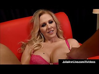 Big boobed blonde milf julia ann strokes blows your dick
