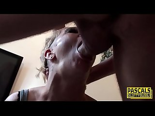 Throated milf sub rides