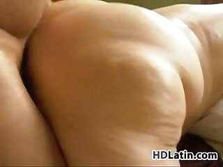 Latin bbw banging at home with her husband