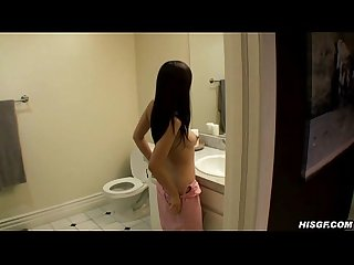 Cute asian amateur naked on camera