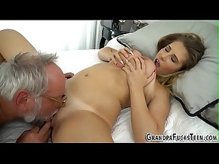 Teen tasted by grandpa