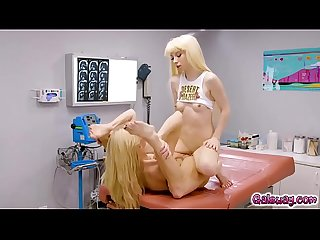 Sexy doctor Serena Siren fucking her hot patient Kenzie Reeves in a hot lesbian sex