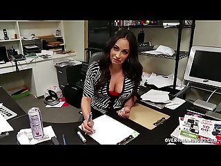 Mature Latina Hanjob At The Office