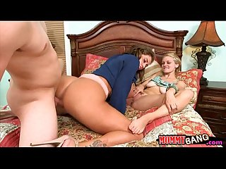 Eva notty and Allie rae crazy threesome in the bedroom