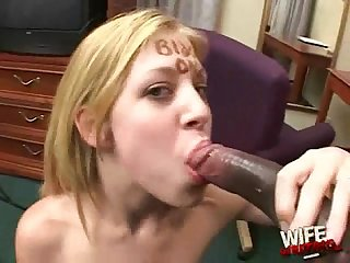Black cums in white mouth excl