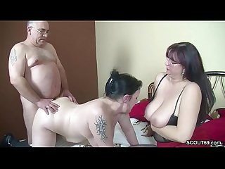 German old couple seduce step daughter to fuck in threesome