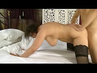 Chubby british wife takes cock deep in her ass