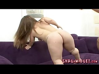 Busty midget chick gets fucked