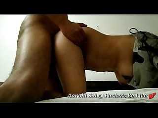 Indian wife anal fuck with pizza delivery boy in a hotel room