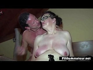 Mature whore take foot in pussy! Extreme sex!