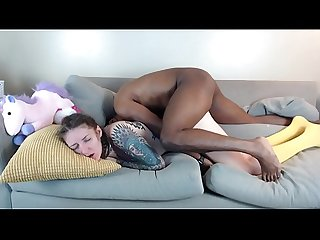 Cam session elle steals daddys creampie