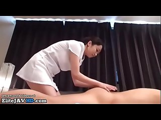 Japanese professional massage with beauty in uniform