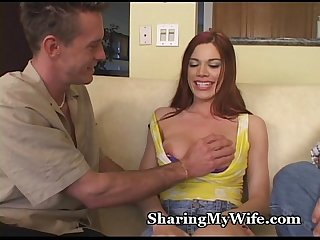 Hot Redheaded Wife Shared With Friend