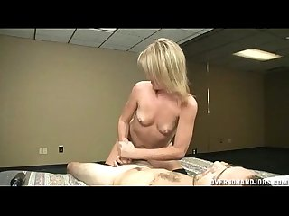 Hot topless handjob