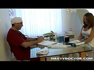 Old gynecologist can not resist young girl pussy