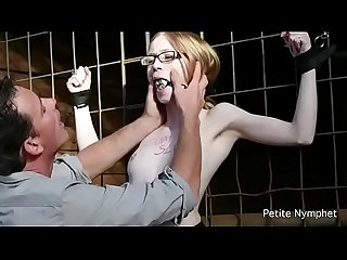 Blonde petite used and abused