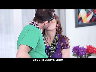 Daughterswap dutch teen fucked after mardis gras