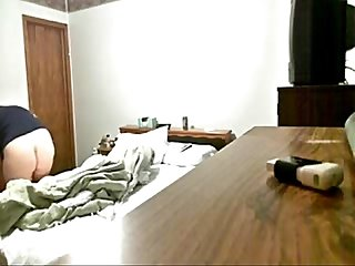 My mom masturbating in bed room caught by hidden cam