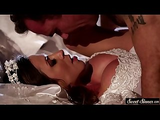 Milf bride pussyfucked and squirted with cum