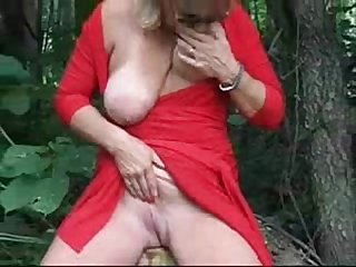 Exhibition of gorgeous mature bitch outdoor amateur older