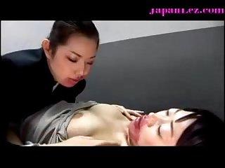 Bizarre black dildo asian lesbian banging