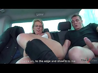 Takevan Pussy cum cover for glassed blonde teacher at lunch breat