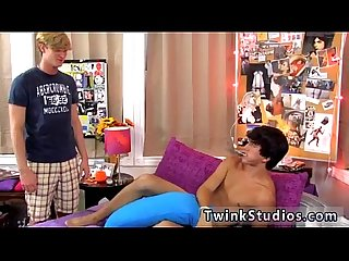 Black gay twinks photo first time Jason is sucking a weenie while
