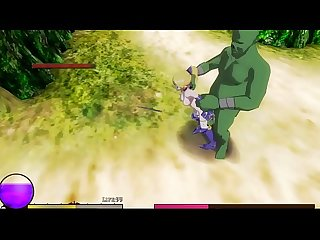 3d hentai game ryona Elf Knight Giselle blonde teen girl in sex with monsters