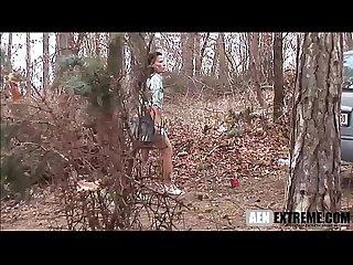 Stranded milf forced to fuck a masked stranger
