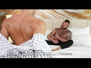 ManRoyale Hotel room strip fuck with Ethan Slade and Derek Parker