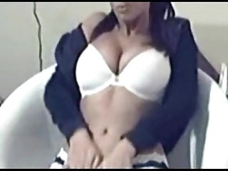 Hot brunette strip and dances 4 u