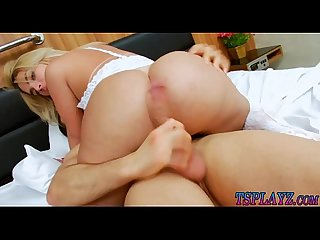 Gorgeous tranny and nasty man ass boning