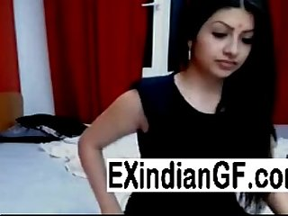 Indian lovers fucking in front of webcam