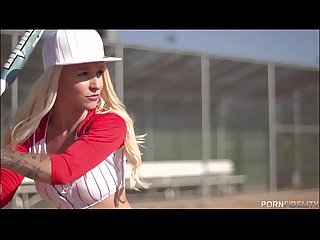 Baseball Loving Blonde Stevie Shae Loves An After Game Fuck